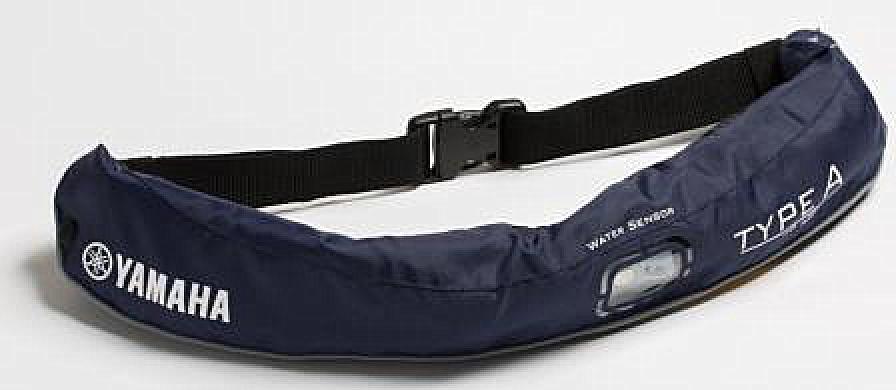 水感知膨脹式ライフジャケット ウエストベルト YWW-5620 JEANS ネイビー