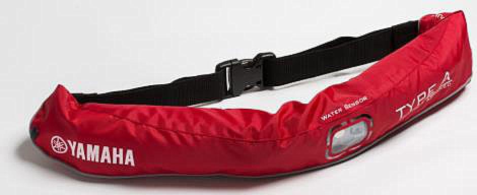 水感知膨脹式ライフジャケット ウエストベルト YWW-5620 JEANS レッド
