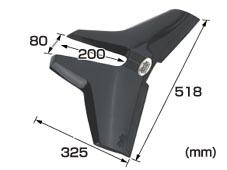 ハイドロフォイルスタビライザー SR-1 黒 大 04824
