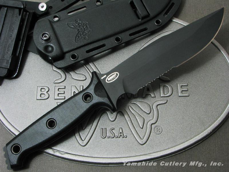 BENCHMADE/ベンチメイド #119SBK ARVENSIS アベンシス /ブラック直・波コンビ刃