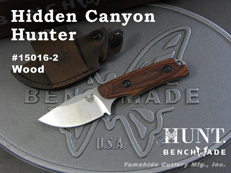 BENCHMADE/ベンチメイド ハント #15016-2 Hidden Canyon Hunter ヒドゥン・キャニオン ハンター /ウッド