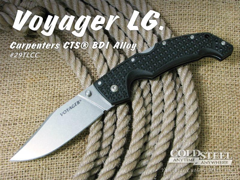 ファッションの COLD STEEL/コールドスチール #29TLCC LG. VOYAGER VOYAGER LG. #29TLCC ヴォヤージャー/クリップポイント 直刃, 一樹園:15185583 --- supercanaltv.zonalivresh.dominiotemporario.com