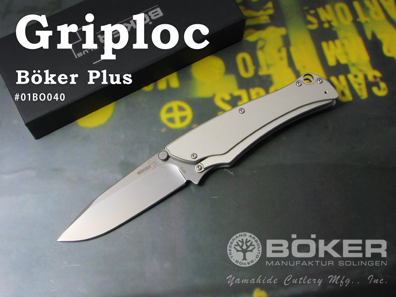 BOKER Plus/ボーカー プラス #01BO040 グリップロック/グレー フォールディングナイフ