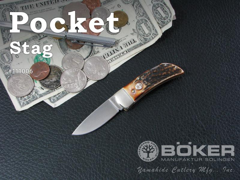 BOKER/ボーカー #111006 ポケット/スタッグ 折りたたみナイフ