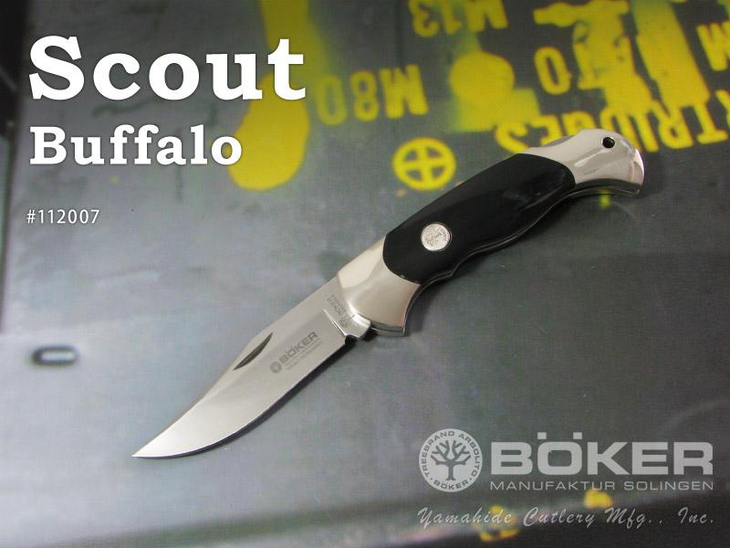 BOKER/ボーカー #112007 スカウト/バッファロー 折りたたみナイフ