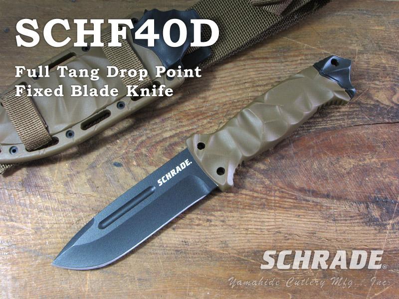 SCHRADE/シュレード #SCHF40D 5.1インチ フィクスドブレード ナイフ