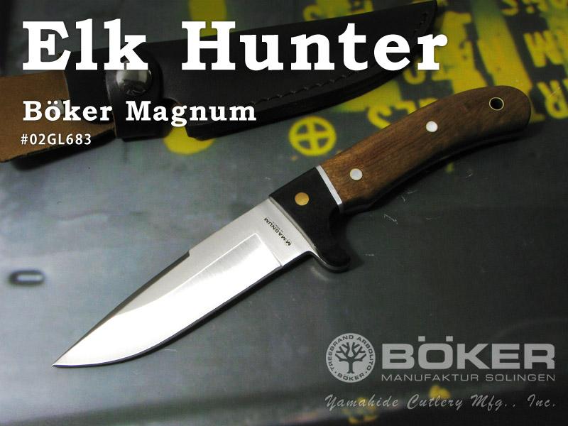 安値 BOKER Magnum ボーカー マグナム 高い素材 #02GL683 エルクハンター シースナイフ