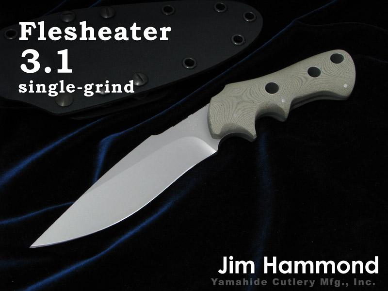 Jim Hammond/ジム・ハモンド Flesheater 3.1 single-grind フレッシュイーター 3.1 シースナイフ