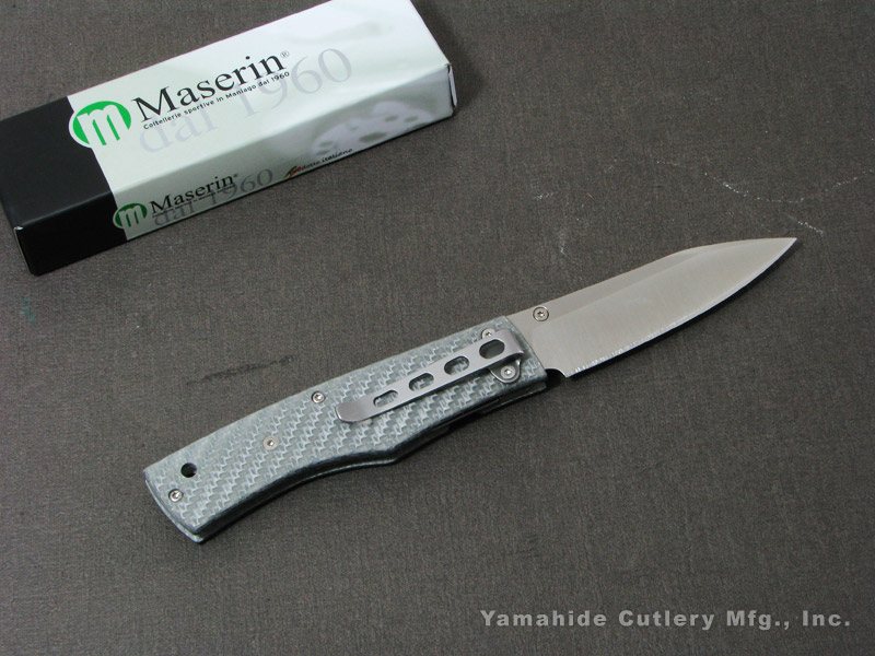 Maserin/(マセリン) #392/CA カーボン/シルバー 折り畳みナイフ