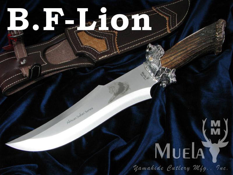 超ポイントアップ祭 Muela Muela/ムエラ/ムエラ B.F-LION ビッグ 限定150本・ファイブ・シルバー ライオン ライオン 限定150本 ボウイナイフ, PRIZM7:942c1387 --- supercanaltv.zonalivresh.dominiotemporario.com