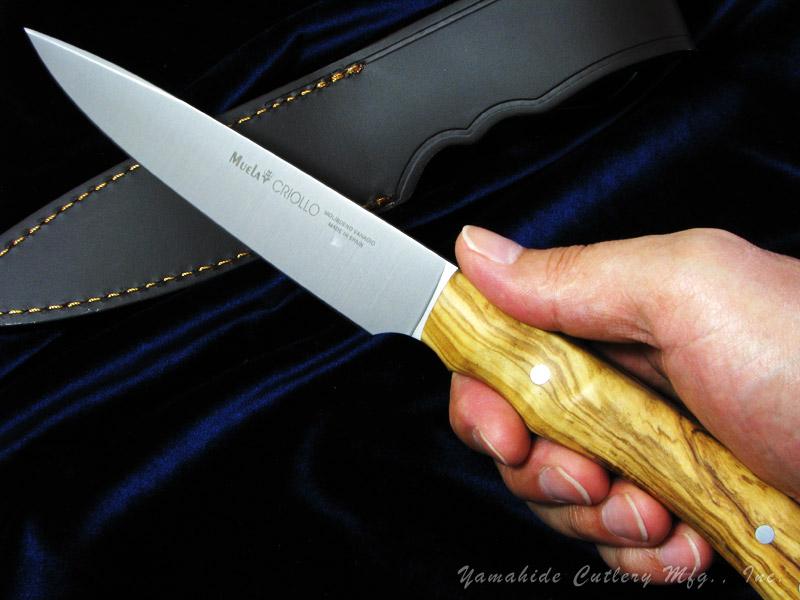 Muela/ムエラ CRIOLLO-14.OL クリオリオ 140mm オリーブウッドハンドル シースナイフ