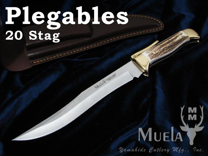 Muela/ムエラ PG-20A ロングブレードフォルダー 200mm スタッグハンドル フォールディングナイフ