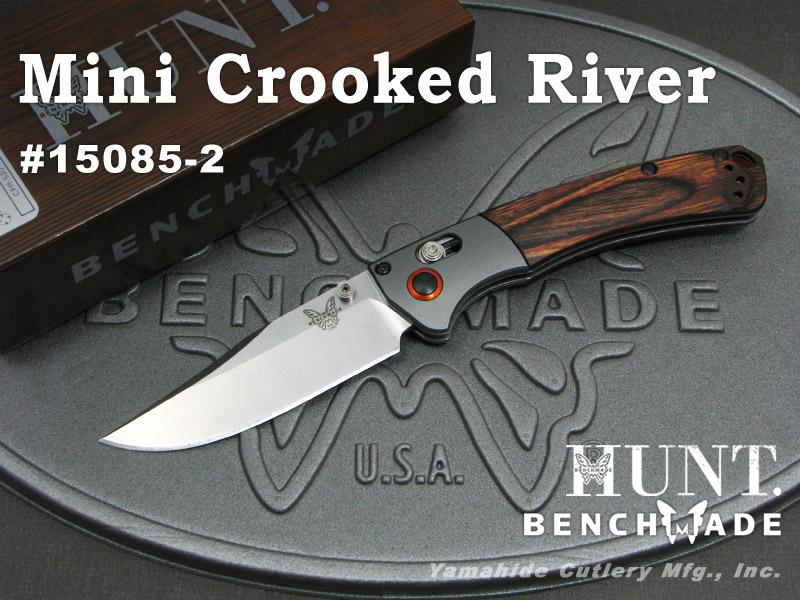 BENCHMADE/ベンチメイド #15085-2 Mini Crooked River ミニ クルックド リバー/ウッド 折り畳みナイフ
