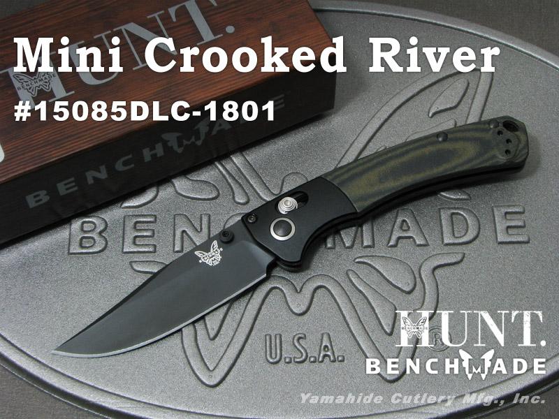 正規 BENCHMADE/ベンチメイド #15085DLC-1801 #15085DLC-1801 River Mini Crooked Crooked River ミニ クルックド リバー/ 限定モデル, アーミノグチ:75520cf4 --- construart30.dominiotemporario.com
