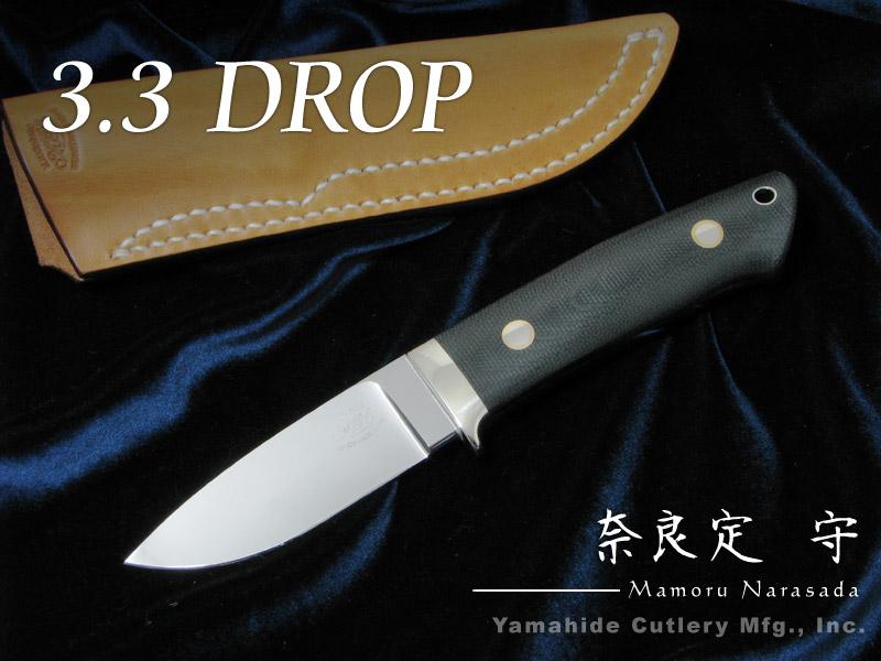 【送料無料/新品】 .奈良定 守 作 I070A 守 ドロップ knife 3.3