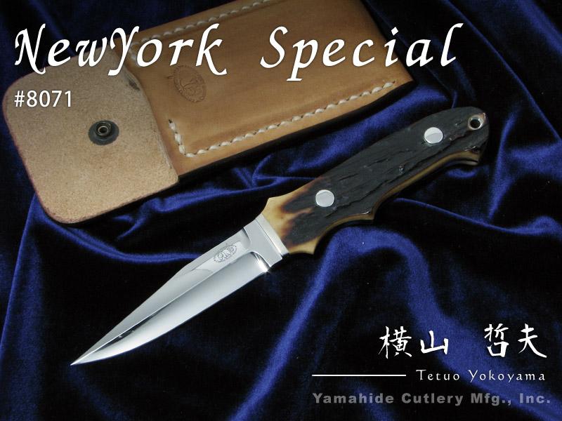 注目のブランド .横山 哲夫 作/ 8071 NYSP (ニューヨークスペシャル) knife/ ATS-34,スタッグ/ NYSP シースナイフ,ラブレストリビュート/ Tetsuo Yokoyama Custom knife, 牟礼町:822281d6 --- supercanaltv.zonalivresh.dominiotemporario.com