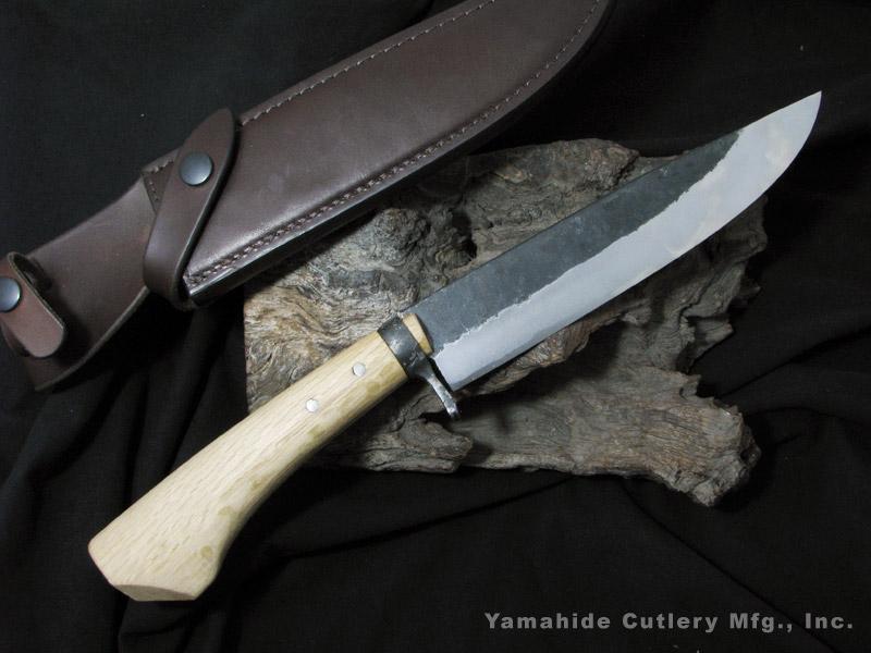 .岩井 丈(源右衛門)作/黒打剣鉈 7寸(210mm)白紙割込/Takeshi Iwai(Genemon) Custom Knife