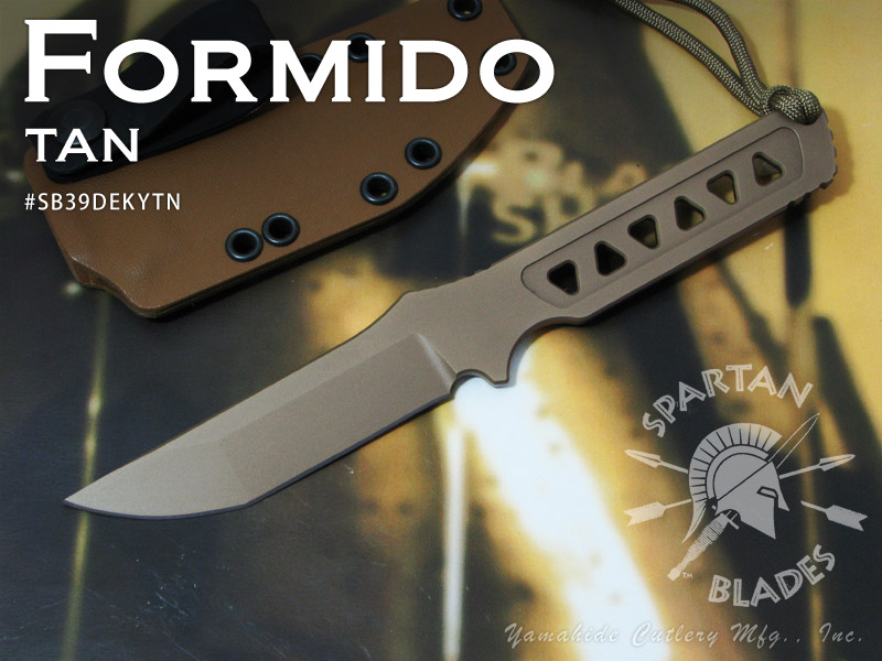 Spartan/スパルタン #SB39DEKYTN FORMIDO/フォルミード /タン シースナイフ