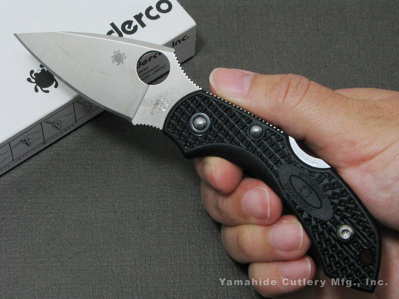 Spyderco/スパイダルコ C28PBK2 ドラゴンフライ2 /VG-10 直刃 ブラック 折り畳みナイフ