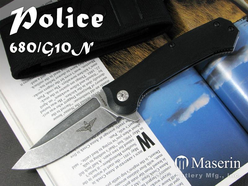 Maserin Maserin/マセリン Police/マセリン/ブラックG10 #680/G10N Police ポリス/ブラックG10, VENICE:78b9a2ab --- sunward.msk.ru