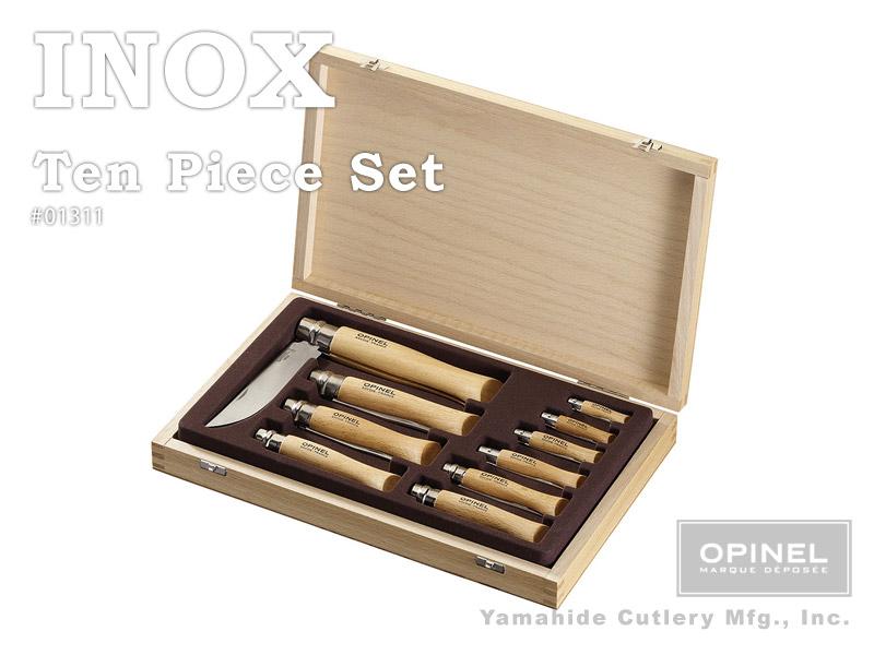 OPINEL/オピネル #OP01311 ステンレス鋼ナイフ 10本セット