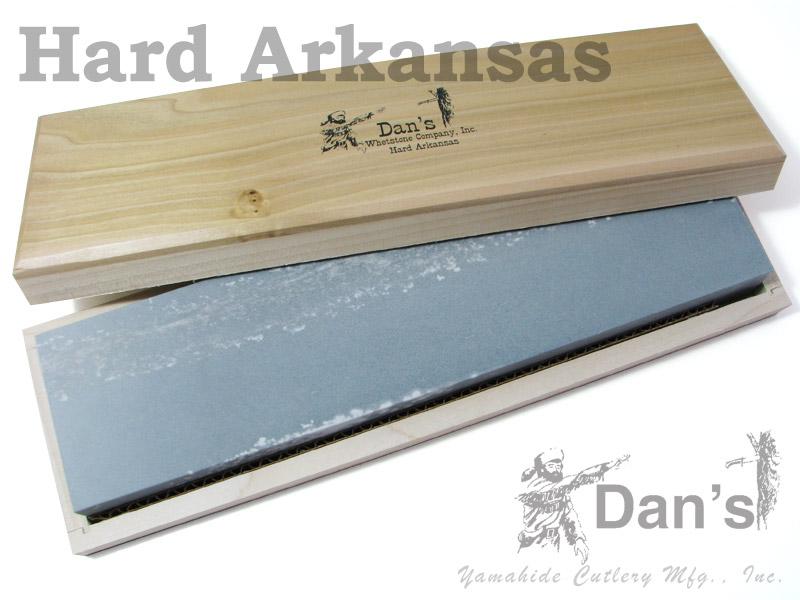 DAN'S/ダンズ #FAB123C 天然アーカンサス砥石 12インチ ハード(ファイン) 木箱入り