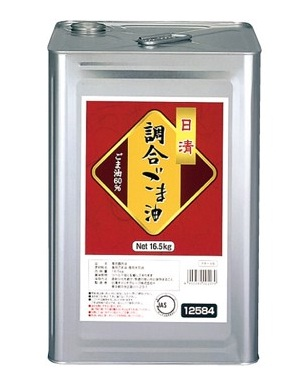 日清 激安格安割引情報満載 調合ごま油 入荷予定 16.5kg 60% 1斗缶