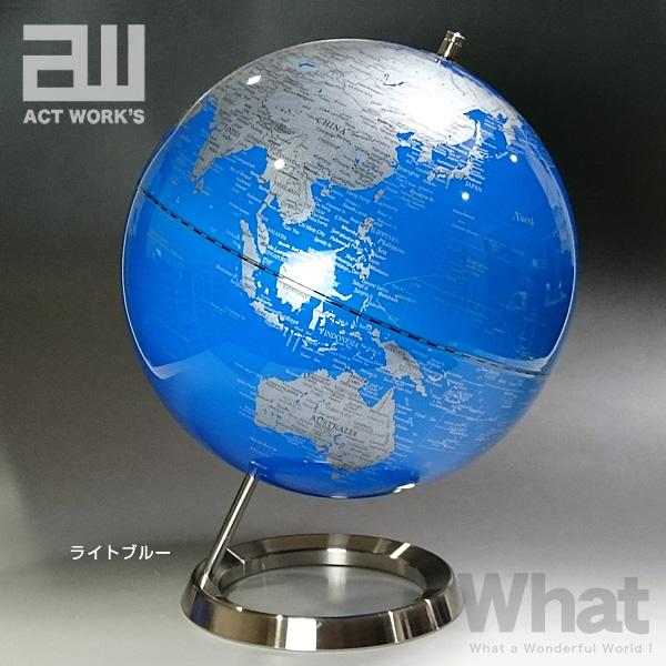 《全3色》act work's インテリア地球儀 globe(L)30cm 【アクトワークス デザイン雑貨 レトロ モダン インテリア雑貨 デスク オフィス 卓上 リビング】