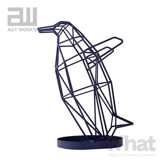 動物をモチーフにしたオブジェのような傘立て シャドーワイヤー UMBRELLA STAND ベビーペンギン 傘立て BABY 人気ショップが最安値挑戦 PENGUIN act work's 鳥 デザイン雑貨 収納 アンブレラスタンド アニマル アクトワークス オンラインショッピング WIRE 玄関 SHADOW インテリア