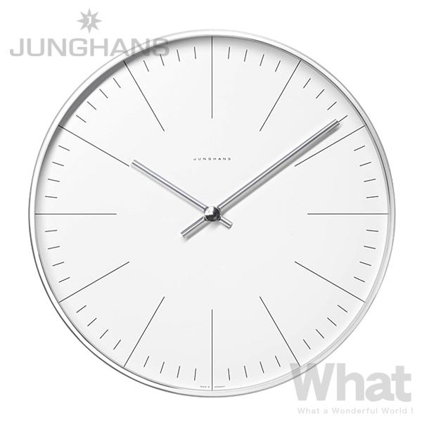 《全2種》JUNGHANS Max Bill wall clock 30cm 【ユンハンス マックスビル 掛け時計 掛時計 ウォールクロック デザイン雑貨 インテリア リビング シンプル 数字 ライン number/line ユングハンス ドイツ】