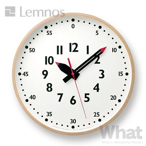 Lemnos フンプンクロック(L) 掛け時計 fun pun clock 【タカタレムノス デザイン雑貨 ウォールクロック 壁掛け時計 壁時計 リビング 子供部屋 北欧 インテリア ふんぷんくろっく】