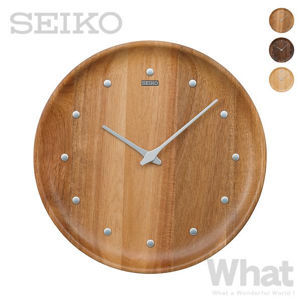 木ならではの美しさを感じられる壁掛け時計 《全3色》SEIKO 保証 clock nu ku mo ri ヌクモリ KX622 掛け時計 掛時計 インテリア シンプル ウォールクロック デザイン雑貨 セイコー 正規品 リビング ナチュラル クォーツ