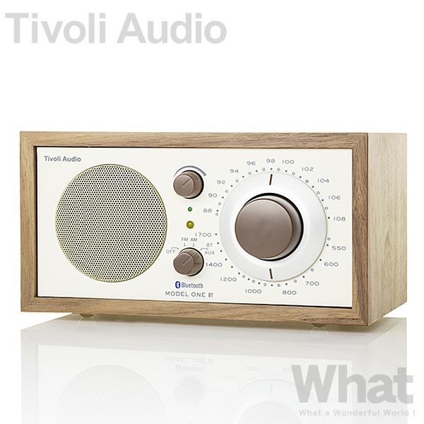 Tivoli Audio Model One BT(クラシック・ウォールナット/ベージュ)ラジオ・スピーカー 【チボリオーディオ デザイン家電 ワイドFM対応 ラジオ ブルートゥース スピーカー レトロ 北欧 インテリア チボリ オーディオ モデルワン ビーティー】