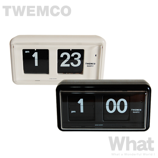 世界中で愛されるパタパタ式クロック 《全2色》twemco QT-30 期間限定お試し価格 デスク ウォールクロック 置き掛け兼用時計 DeskWall トゥエムコ トゥエンコ デザイン雑貨 卓上 Seasonal Wrap入荷 オフィス 北欧 店舗 置時計 レトロ 壁掛け時計 パタパタ とけい デジタル