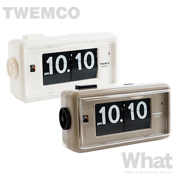 《全2色》twemco AL-30 デスクアラームクロック Desk Alarm 目覚まし時計 【トゥエムコ トゥエンコ デザイン雑貨 置き時計 とけい パタパタ アナログ 卓上 置時計 オフィス 店舗 レトロ】