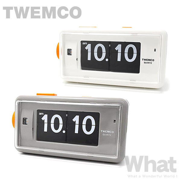 《全3色》twemco AL-30 デスクアラームクロック Desk Alarm 目覚まし時計 【トゥエムコ トゥエンコ デザイン雑貨 置き時計 とけい パタパタ アナログ 卓上 置時計 オフィス 店舗 レトロ】