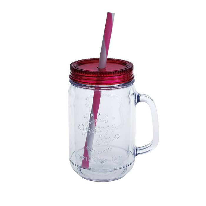 Vintage style double walled 450 ml pink (PK) steel lid mug mug Vintage Style Double Wall Jar 029325 vintage ☆
