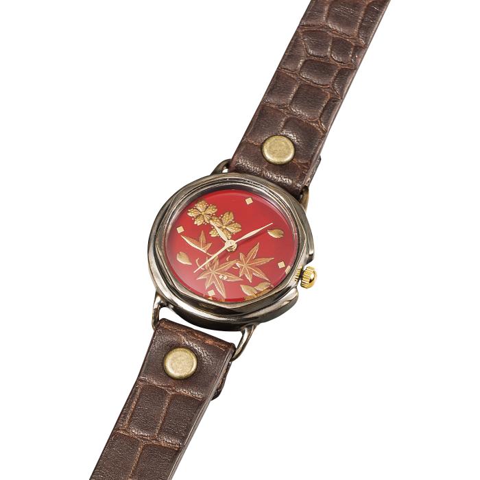 ありがとうを伝える 腕時計 レディース 漆芸手書き腕時計 Lady's 春秋 SEIKO ムーブ 国産 山中塗 成人 進学 合羽橋 かっぱ橋