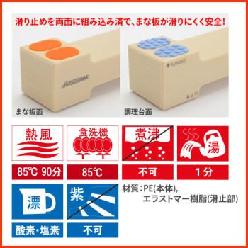 The cutting board hygiene! Antibacterial cutting board lifters 300 × 35 × H20mm LF20-300 chopping units Hasegawa ☆