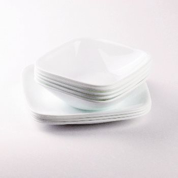 In the correr (CORELLE) square plate winter frost white J2211-N (Pearl) CP-8902!