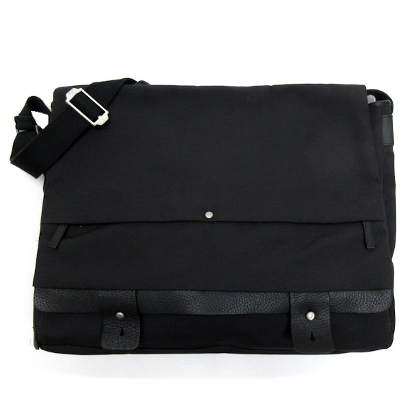 la moitié df56f 764bf Puma /96 HOURS PUMA leather & nylon shoulder bag /BAG ■ black messenger