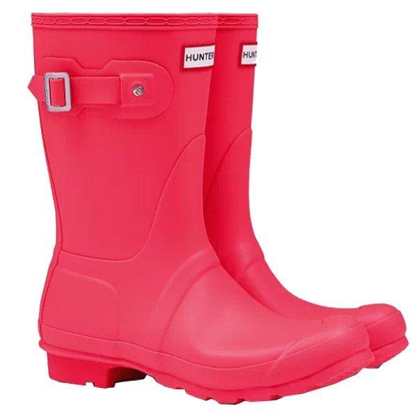 HUNTER(ハンター) ORIGINAL TOUR SHORT/FLA/3 WFS1026RMAアウトドアウェア レインブーツ レインシューズ 長靴 ピンク 女性用 おうちキャンプ