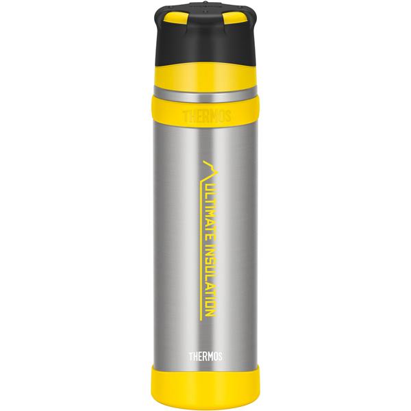 ★エントリーでポイント10倍!THERMOS サーモス 山専ステンレスボトル クリアステンレス CS 0.9L FFX-901アウトドアギア ステンレスボトル 水筒 マグボトル イエロー