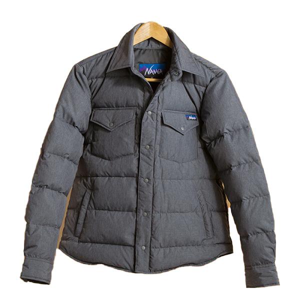 NANGA ナンガ ダウンシャツ/GRY/M DST-6男性用 グレー