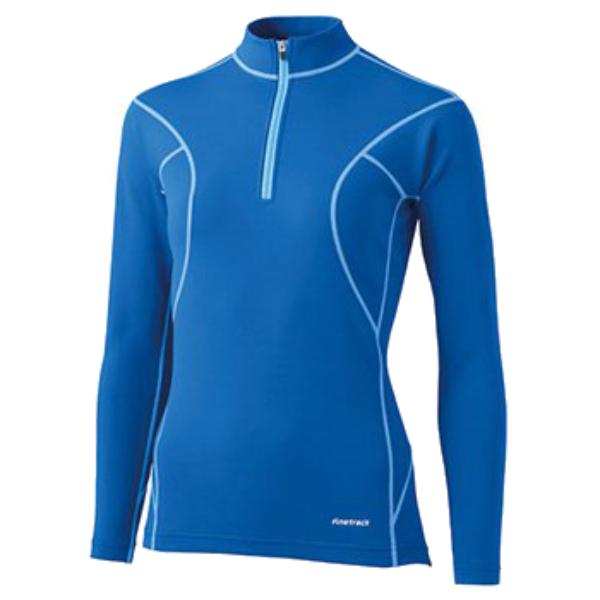 finetrack ファイントラック フラッドラッシュジップネック Ws LB FWW0122女性用 ブルー