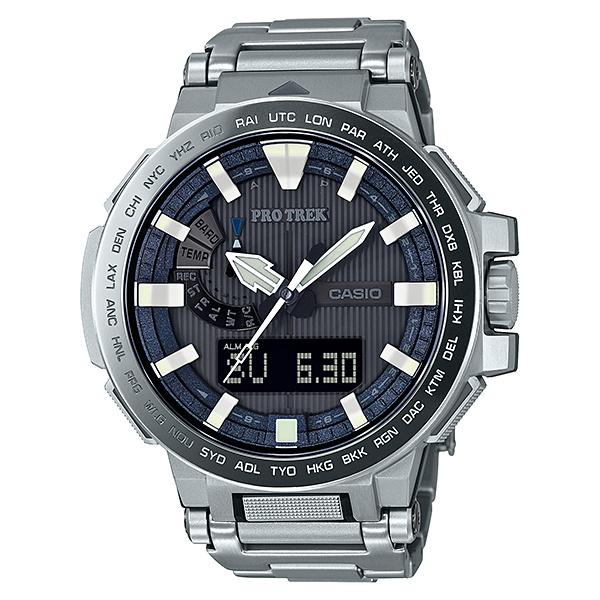 CASIO(カシオ) プロトレック マナスル (チタン) PRX-8000GT-7JF PRX-8000GT-7Jアウトドアギア 高機能ウォッチ 時計