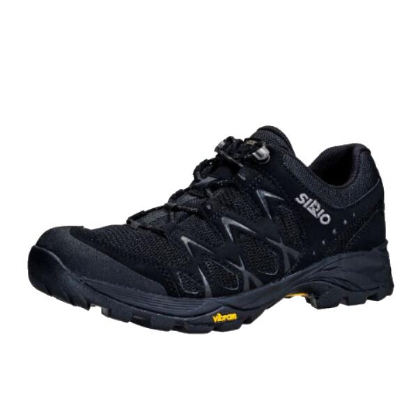 SIRIO(シリオ) P.F.116-2/BLK/23.5cm PF116-2アウトドアギア アウトドアスポーツシューズ メンズ靴 ウォーキングシューズ ブラック 男性用