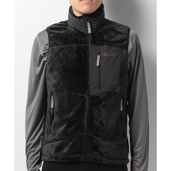 Marmot マーモット ORIGIN FLEECE VEST/BLK/L MJF-F7067男性用 ブラック