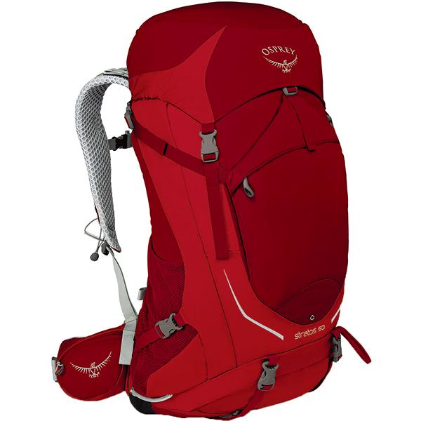 OSPREY オスプレー ストラトス 50/ビートレッド/M/L OS50300アウトドアギア トレッキング50 トレッキングパック バッグ バックパック リュック レッド 男性用 おうちキャンプ