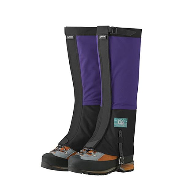 【特別期間ポイント10倍キャンペーン】Outdoor Research アウトドアリサーチ ORRetroCrocodiles/purplerain/black/M 19841908アウトドアウェア 冬用ゲーター(スパッツ) ウェアアクセサリー トレッキング 靴 ブーツ ブルー ベランピング おうちキャンプ